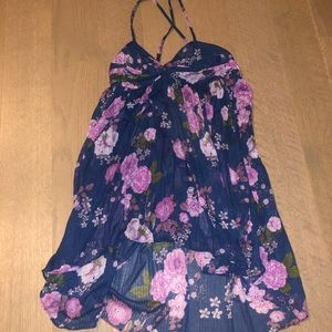 Free People Blouse / Dress, size medium, navy blue